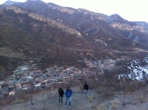 Hiking up the Mountain Near Cuandixia